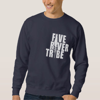 Five River Tribe White Print by Humble The Poet Sweatshirt