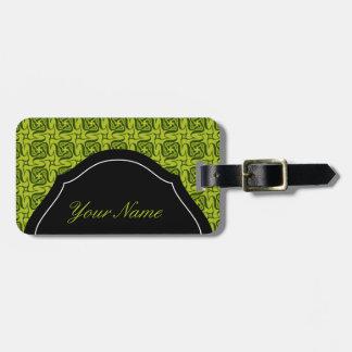 Five shaped Green pattern Bag Tag