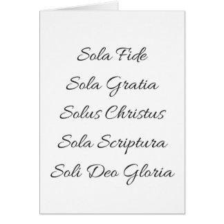 Five Solas Notecard