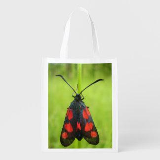 Five-Spot Burnet Moth Reusable Bag