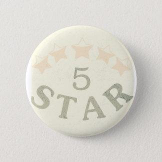 Five star 2 inch round button