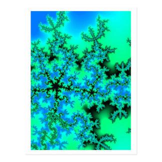 Five-star-fractal 2 postcard