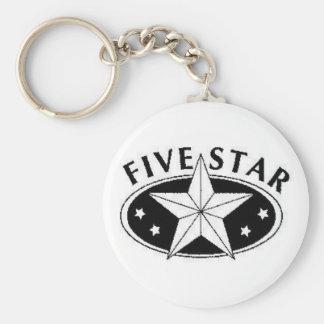 Five Star Key Chain