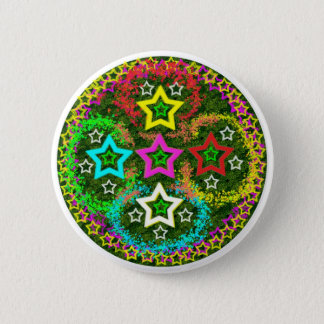 Five Stars Colorful 2 Inch Round Button