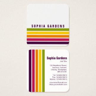 Five Stripes - Colors 03 Square Business Card