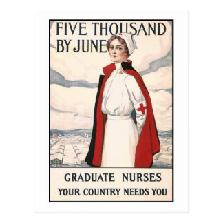Five Thousand by June Nurse Recruiting Poster Postcard