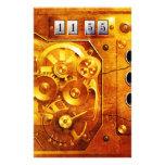 Five to 12 Steampunk Uhr Grunge Flyer