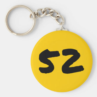 "Five-Two 2.25"" Basic Button Keychain"