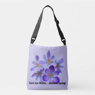 Five violet crocuses 05.0.2.T, spring greetings Crossbody Bag