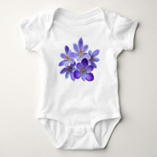 Five violet crocuses 05.0, spring greetings baby bodysuit