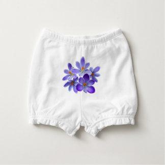 Five violet crocuses 05.0, spring greetings diaper cover