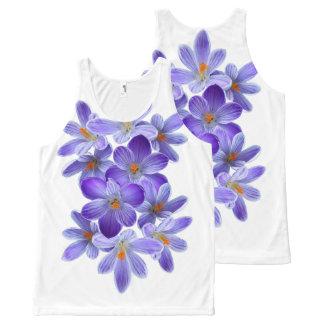 Five violet crocuses 05.10, spring greetings All-Over-Print tank top
