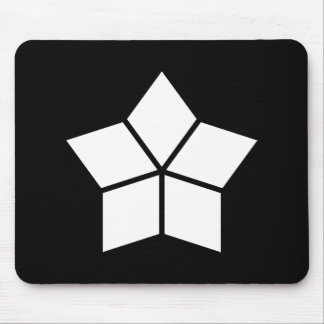 Five water caltrops (ten percentage drawing) mouse pad