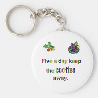 FiveADay Basic Round Button Keychain