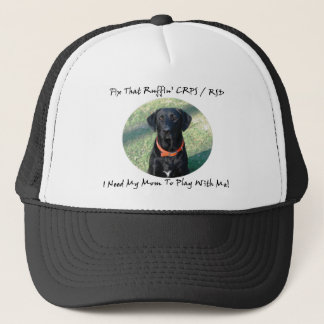 Fix That Ruffin CRPS RSD - Mom Black Text Trucker Hat