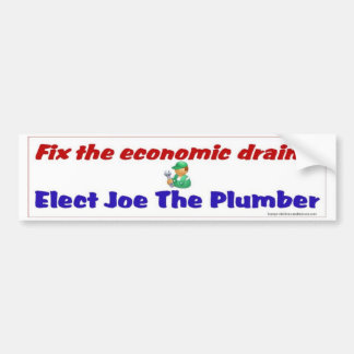 Fix the economic drain bumper sticker