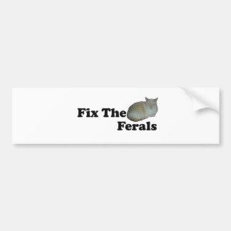 Fix The Ferals Bumper Sticker