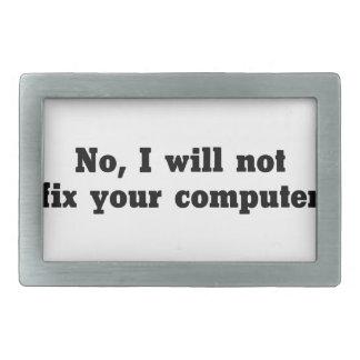 Fix Your Computer Rectangular Belt Buckle