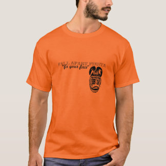 """""""fix your face"""" African Mask T-Shirt"""