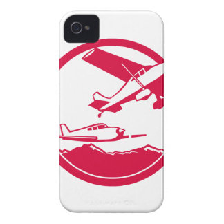 Fixed Wing Aircraft Taking Off Circle Retro iPhone 4 Cases