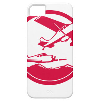 Fixed Wing Aircraft Taking Off Circle Retro iPhone 5 Case
