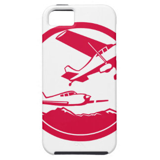 Fixed Wing Aircraft Taking Off Circle Retro iPhone 5 Cover