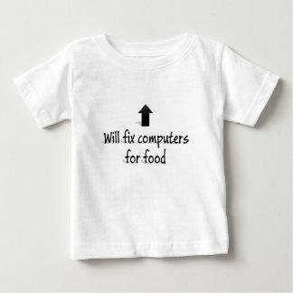 Fixera des ordinateurs pour la nourriture t-shirt pour bébé