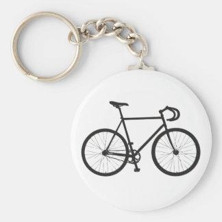 Fixie (Black) Basic Round Button Keychain