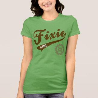 Fixie Girl, Bike design brown/green T Shirts