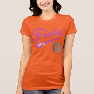 Fixie Girl, Bike design Pink/gray Tee Shirt