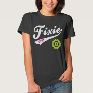 Fixie Girl, Bike design pink/white/lime Shirt