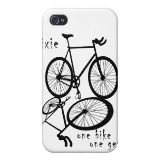 Fixie - one bike one gear iPhone Case iPhone 4 Cover