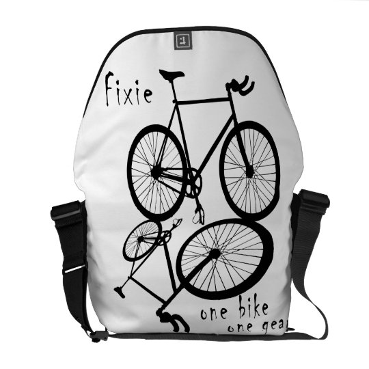 Fixie - one bike one gear messenger bag