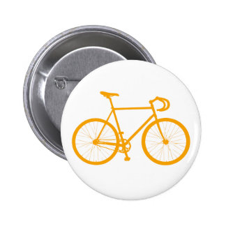 Fixie Orange Pin