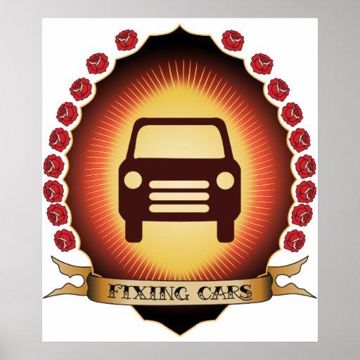 Fixing Cars Mandorla Posters