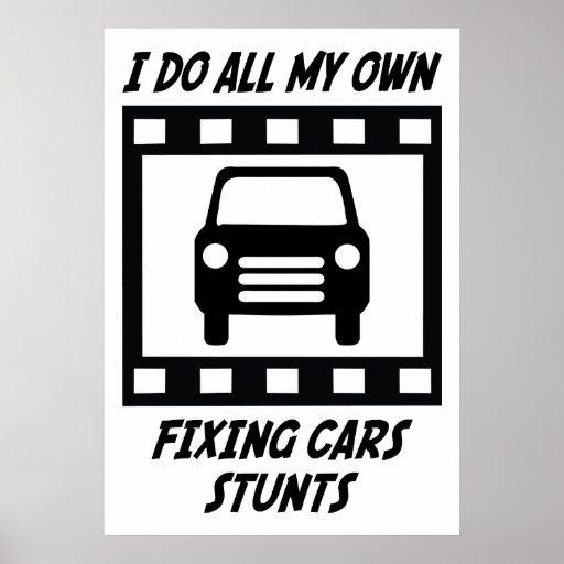 Fixing Cars Stunts Print