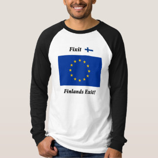 Fixit - Finlands Exit! Black long sleeves T-Shirt