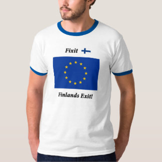 Fixit - Finlands Exit! Blue stripes T-Shirt