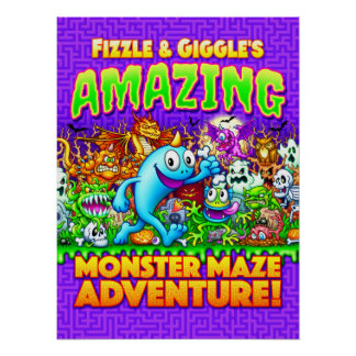Fizzle & Giggle's Amazing Monster Maze Adventure! Poster