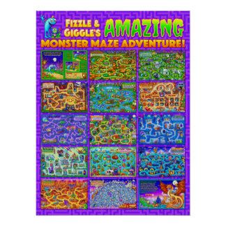 Fizzle & Giggle's Amazing Monster Maze Poster