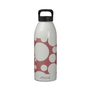 Fizzy Bubble Polka Dots On Red Water Bottles