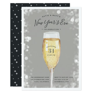 Fizzy Pop   New Year's Eve Party Invitation