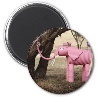 Fizzy The Elephant 2 Inch Round Magnet
