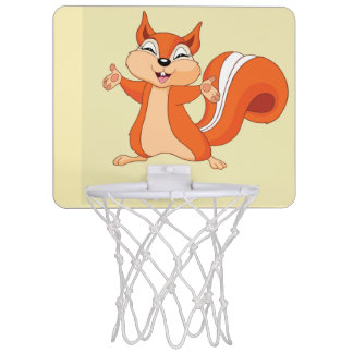 Fizzy the Playful Squirrel Mini Basketball Hoop