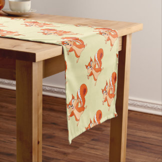 Fizzy the Playful Squirrel Short Table Runner