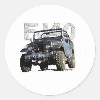 FJ40 Landcruiser Apparel Classic Round Sticker