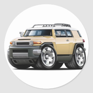 Fj Cruiser Tan Car Classic Round Sticker