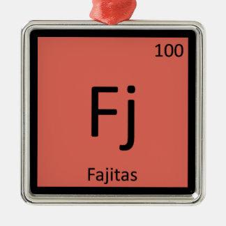 Fj - Fajitas Chemistry Periodic Table Symbol Metal Ornament