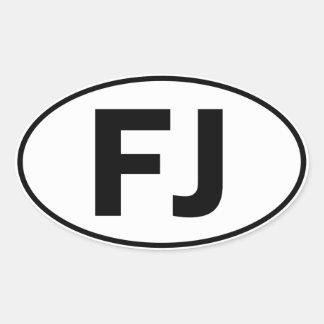 FJ Oval Identity Sign Oval Sticker