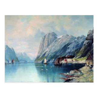 Fjord in Norway painting by Lev Lagorio Postcard
